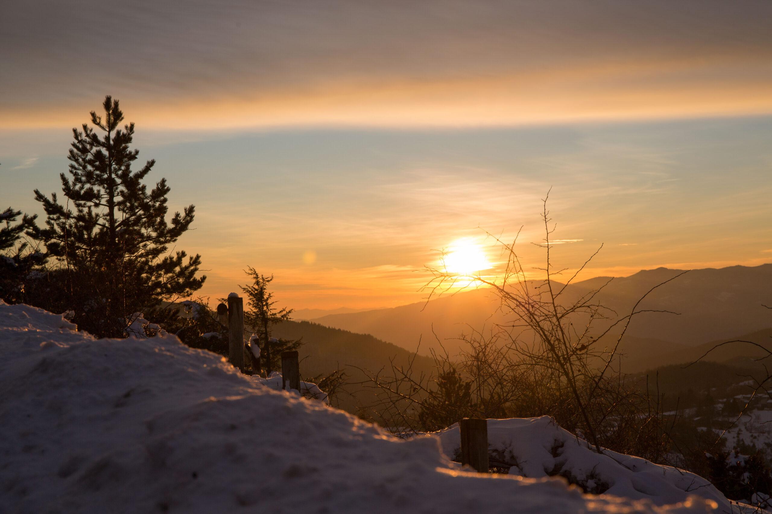 tramonto invernale per il passo dello spino Pieve Santo Stefano Arezzo Toscana